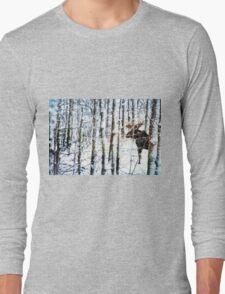 Painted Moose Long Sleeve T-Shirt