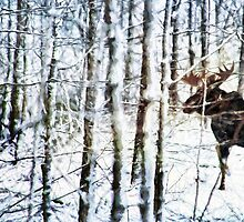 Painted Moose by ginkelmier