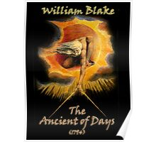 William BLAKE, GOD, BLAKE, Ancient of Days, Artist, English poet, painter, printmaker Poster