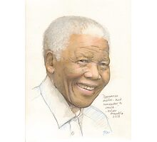 Nelson Mandela - appearances matter and remember to smile Photographic Print