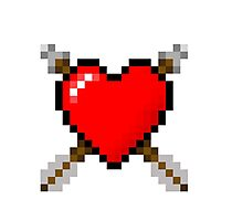 8-bit heart Photographic Print