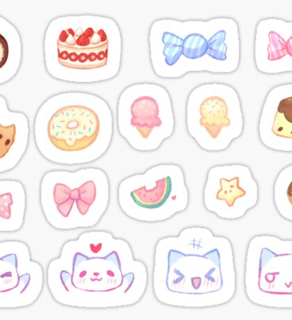 Pastel Set 3 - Sweets and cats Sticker