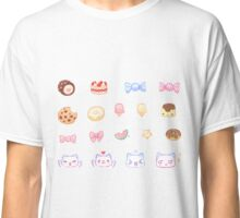 Pastel Set 3 - Sweets and cats Classic T-Shirt