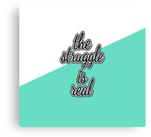 """""""The Struggle is Real."""" Color Block Canvas Print"""