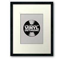 I Find Your Lack Of Vinyl Disturbing Star Wars T-shirt Framed Print