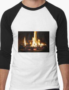 Winter Fire Men's Baseball ¾ T-Shirt