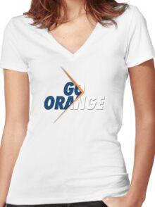 GO ORANGE - V2 Women's Fitted V-Neck T-Shirt