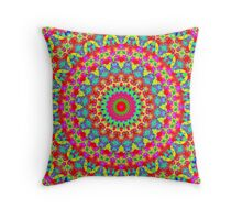 Kaleidoscope Vibrant Trippy Pattern Throw Pillow