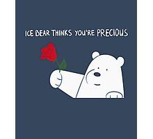 Ice Bear Thinks You're Precious Photographic Print