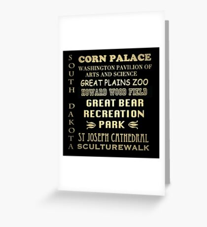 South Dakota Famous Landmarks Greeting Card