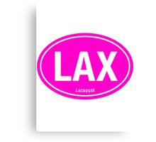LAX - EURO STICKER PINK Canvas Print