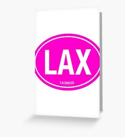 LAX - EURO STICKER PINK Greeting Card