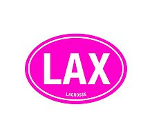 LAX - EURO STICKER PINK Photographic Print