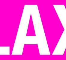 LAX - EURO STICKER PINK Sticker