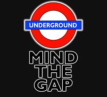 TUBE, London, Underground, Mind the gap, BRITISH, BRITAIN, UK, England, on BLACK Unisex T-Shirt
