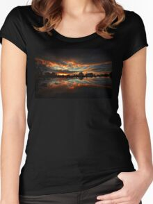 beautiful lake picture  Women's Fitted Scoop T-Shirt