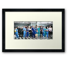 Casualty Cast 2014  Framed Print