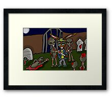 surrounded by zombies  Framed Print