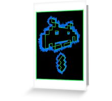 Neon Invader Greeting Card