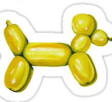 Balloon Dogs, Black Background Sticker