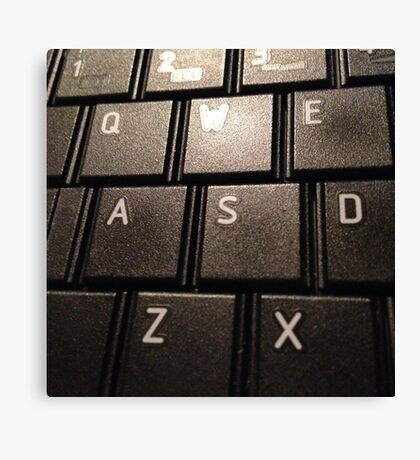 keyboard. Canvas Print