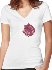 Flame Women's Fitted V-Neck T-Shirt
