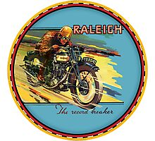 Raleigh Vintage Motorcycles Photographic Print