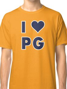 I LOVE PG Paul George Indiana Pacers Basketball heart Classic T-Shirt