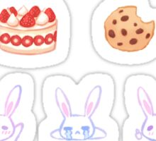 Pastel Set 5 - Snow bunny Sticker