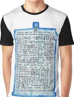 TARDIS Quotes - Doctor Who Graphic T-Shirt