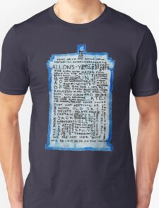 TARDIS Quotes - Doctor Who T-Shirt