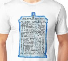 TARDIS Quotes - Doctor Who Unisex T-Shirt