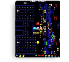 Pac-Man Glitch Level Canvas Print