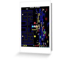 Pac-Man Glitch Level Greeting Card