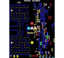 Pac-Man Glitch Level Photographic Print