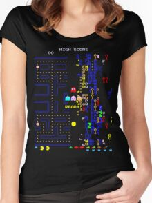 Pac-Man Glitch Level Women's Fitted Scoop T-Shirt