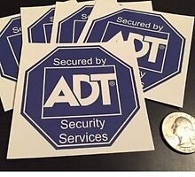 ADT Door Window Sticker Decal by decalguy
