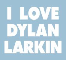 I LOVE DYLAN LARKIN Detroit Red Wings Hockey Kids Tee