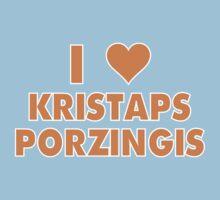 I LOVE KRISTAPS PORZINGIS New York Knicks Basketball heart Kids Tee