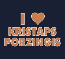 I LOVE KRISTAPS PORZINGIS New York Knicks Basketball heart Kids Tee
