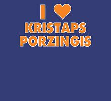 I LOVE KRISTAPS PORZINGIS New York Knicks Basketball heart Womens Fitted T-Shirt