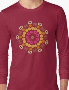 Kaleidoscope Biscuit Circular Pattern Long Sleeve T-Shirt