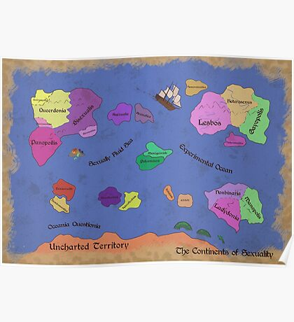 The Continents of Sexuality Poster