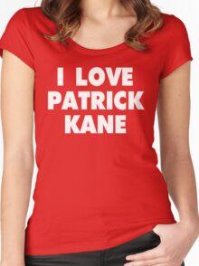I LOVE PATRICK KANE Chicago Blackhawks Hockey Women's Fitted Scoop T-Shirt