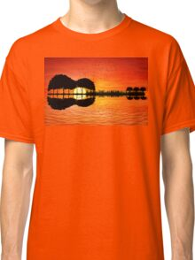 guitar island sunset Classic T-Shirt