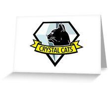 Crystal Cats Logo Greeting Card