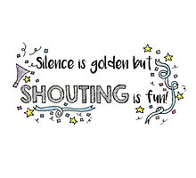 Silence is Golden Photographic Print