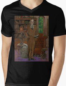 H.P.Lovecraft Art Mens V-Neck T-Shirt