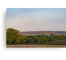 Mist in the autumn (fall) season in the united kingdom Canvas Print