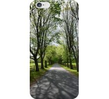 avenue of trees in may iPhone Case/Skin